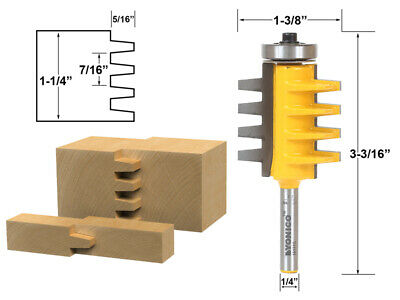 "1-1/4"" Finger Joint Router Bit - 1/4"" Shank - Yonico 15131q"