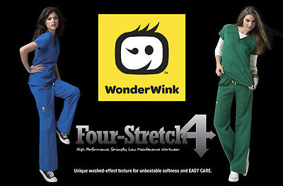 WonderWink Four-Stretch Scrub Set, Top 6214 & Pant 5214 ALL Colors FREE SHIPPING