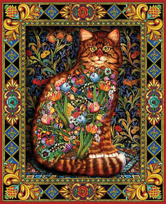 "Jigsaw Puzzle 1000 Pieces 24""X30"" Tapestry Cat WM402"