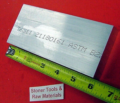 "1-1/4"" X 4"" ALUMINUM 6061 FLAT BAR 6"" long T6511 1.250 Solid Plate Mill Stock"