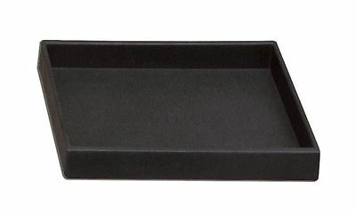 "2pcs Stackable Plastic Black Tray Half Size 1""H Jewelry Display for ring earring"