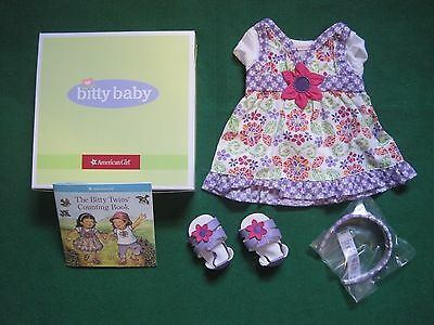 American Girl Bitty Baby or Twins Wildflower Dress Outfit-New In A Box