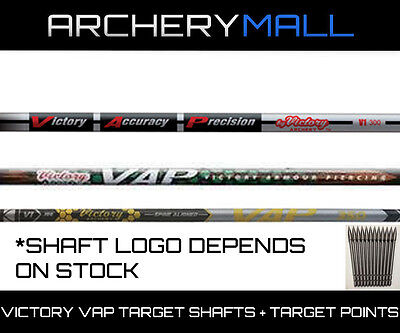 1 Dz. Victory Vap Elite Shafts  .166 Micro Diameter *free Nocks & Target Points*