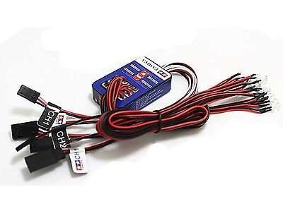 Universal 12 LED Simulation Lights Smart System Flash Lighting for RC 1/10 Car
