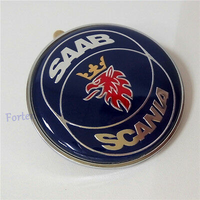 Saab Scania 9-3 9000 900 Resin Front Hood Bonnet Badge 50Mm New Part # 4522884