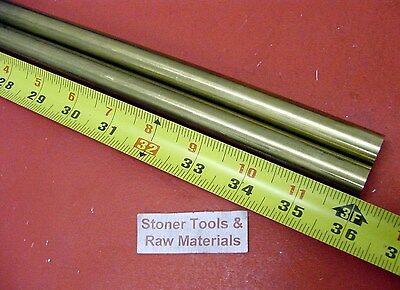 "2 Pieces 5/8"" C360 BRASS SOLID ROUND ROD 36"" long New Lathe Bar Stock H02 .625"""