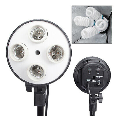 HWASTUDIO ® 4-in-1 E27 Socket Adapter Holder with 4 Lamp Bulb Holder Lighting