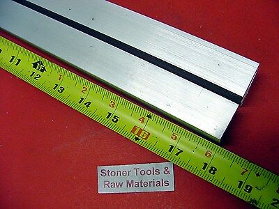 "2 Pieces 1"" X 1"" ALUMINUM 6061 SQUARE BAR 18"" long T6511 Solid New Mill Stock"