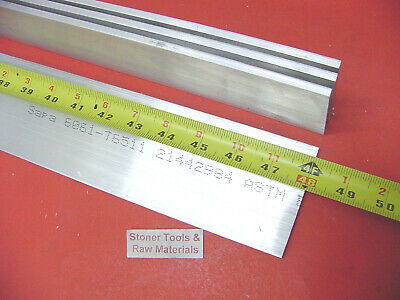 "4 Pieces 1/4"" X 3"" ALUMINUM FLAT BAR 48"" long 6061 .250"" Plate Mill Stock"