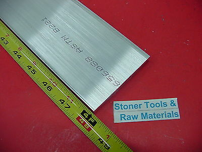 "1/4"" X 4"" ALUMINUM 6061 FLAT BAR 48"" long T6511 .250"" New Plate Mill Stock 4'"
