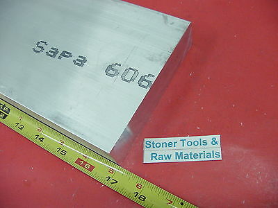 "1/2"" X 5"" ALUMINUM 6061 FLAT BAR 17"" long T6511 Solid .50"" Plate New Mill Stock"