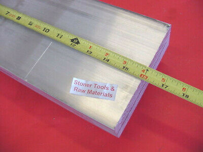 "3/4"" X 8"" ALUMINUM 6061 FLAT BAR 16"" long Solid T6511 .750"" Plate Mill Stock"