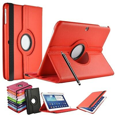 """Leather 360° Rotating Smart Stand Case Cover Samsung Galaxy Tab 3 10.1"""" P5200"""