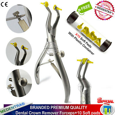 Dental Crown Removal Forceps with 10 Soft Pads for Easy Safe Removal of Crown