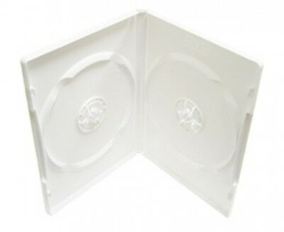 10 PREMIUM STANDARD Solid White Color Double DVD Cases (100% New Material)