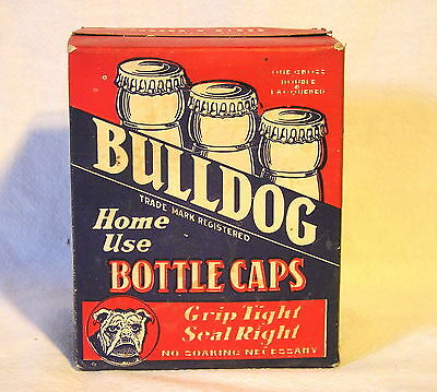 "One Gross Unopened Box of ""Bulldog Bottle Caps"" Excellent Condition/ Home Use"