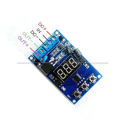 12v 24v Pulse Signal Cycle Time Delay Timer Switch FET MOS Control 0.1Sec~999Min