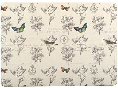 Set of 4 NATURE UNDER GLASS Premium Cork-Back EXTRA LARGE PLACEMATS