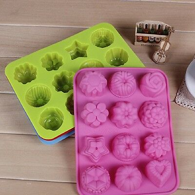 Silicone Chocolate Jelly Candy Muffin Cake Cookies Baking Soap Mold Mould Tray