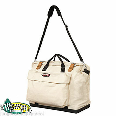 Lineman Doctor Style Tool Bag, Hard Plastic Bottom, Protect Contents, Natural