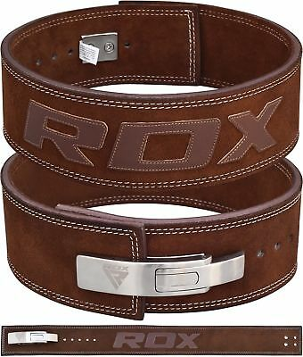 RDX Weight Power Lifting Training Gym Lift Fitness Belt Leather Back Support