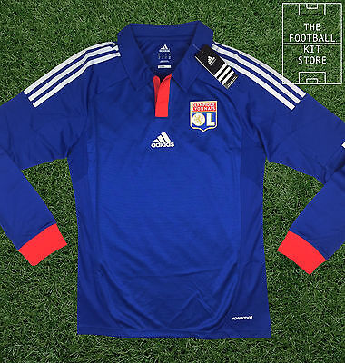 Lyon Away Shirt - Official Adidas Long Sleeved Football Jersey - All Sizes