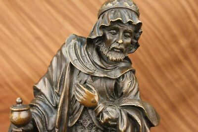 Handcrafted bronze sculpture SALE Religi Religious Church Man Wise Holly Christ