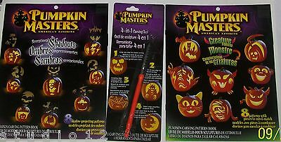 Pumpkin Masters Pattern Books Creature Features  Shadows + 4in1 Tool Halloween
