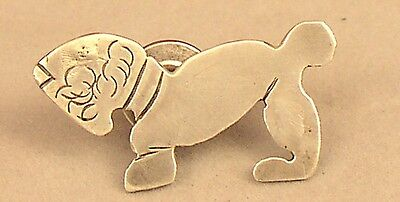 Sterling Silver Stylized SEALYHAM TERRIER Lapel Pin / Tie Tack