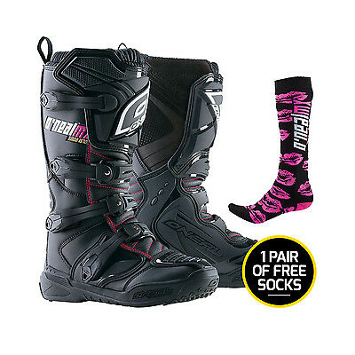 Oneal NEW Mx Element Womens Pink Motocross Dirt Bike Boots SIZE 5 + FREE SOCKS