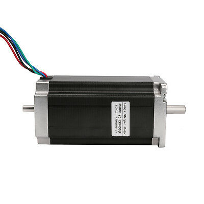 Nema 23 stepper motor dual shaft 425 oz.in=3N.M 3.0A 4 leads CNC Mill