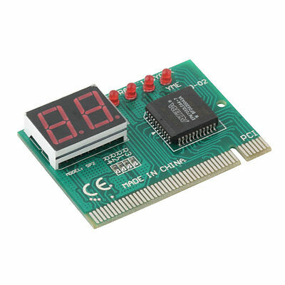 PCI PC Notebook Laptop Analyzer Motherboard Diagnostic 2-Digit Test Post Card 2Y