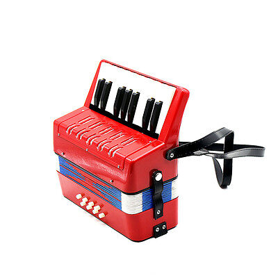 Concertina-104 Plastic ABS 25 Keys Kids Small Child's Toy Piano Accordion Red