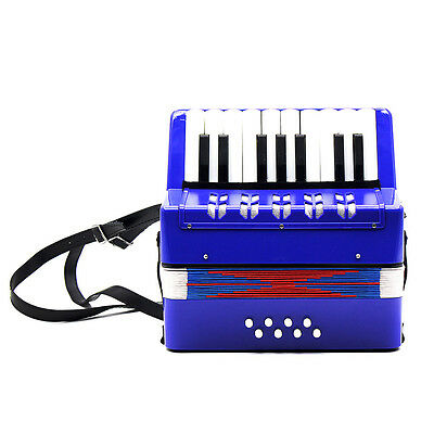 Children Accordion Toy Plastic ABS 25 Keys Kids Small Child's Toy Piano Blue
