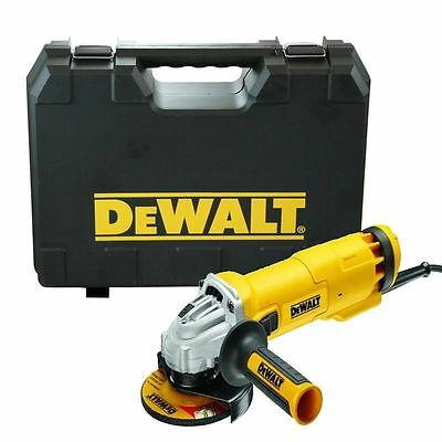 "Heavy Duty 110V Dewalt Dwe4206K 1010W 4.5"" 115Mm Electric Angle Grinder & Case"