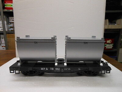 LGB G Scale 4086 Dual Ore Container Car- W.P.&Y.R.