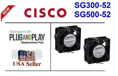 2x replacement fans for Cisco SG500-52 Gigabit Managed Smart Switch