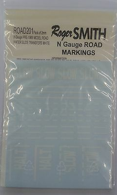 Water Slide Transfers Pre-1965 UK Road Markings White ROAD201 (N) - free post