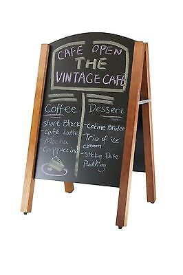 Aframe Signs Wooden/ Black Board Double Sided- 425x690mm 1