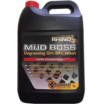Rhino NEW Mx Mud Boss 5L Motocross Dirt Bike Wash 5 Litre Cleaner Degreaser