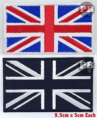 Union Jack UK British Flag ,EMBROIDERED Iron on/Sew on PATCH 9.5 x 5 CM
