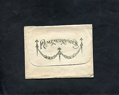 Dated 1918 Remembrance Card with Cover.