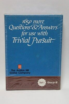 1650 More Questions & Answers For Use With Trivial Pursuit Set 1 Group 3 (1981)