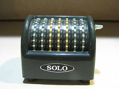 Antique Vintage Miniature Solo Adding Machine Made in Japan 1950's - 1960's