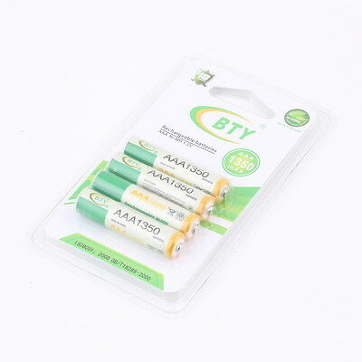 4pcs 1.2V AAA 3A 1350mAh Ni-MH Rechargeable Battery for RC Toys Camera LJ
