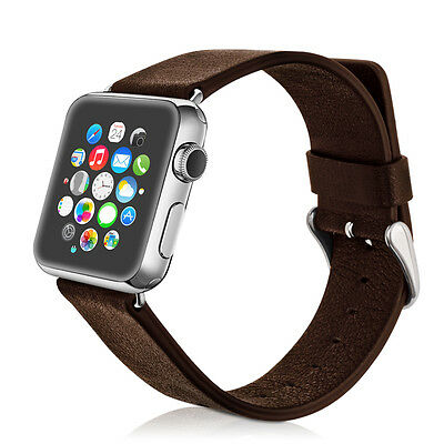 kwmobile WATCH BAND FOR APPLE WATCH 42MM (SERIES 1 SERIES 2) BROWN SYNTHETIC