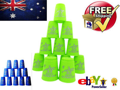 12pcs Speed Stacks Cups Stacking Sport Flying Cup Game Kids Boy Girl Toys New