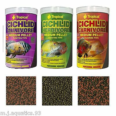 SPECIALIST PROFESSIONAL FISH FOOD FOR CICHLID FISH (Factory Sealed Genuine Tubs)