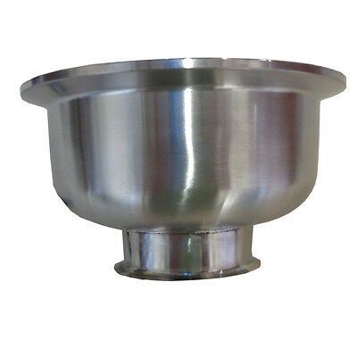 "HFS 1.5"" x 4"" Sanitary Tri Clamp Bowl Reducer - Stainless NEW"