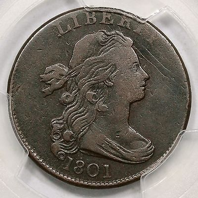 1801 S-213 R-2 PCGS VF 25 Draped Bust Large Cent Coin 1c